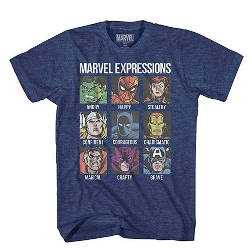 avengers expression moods t-shirt