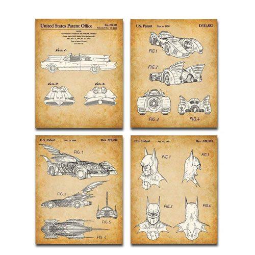 batmobile patent art prints
