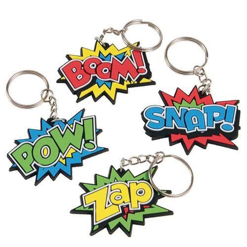 boom pow snap keychains