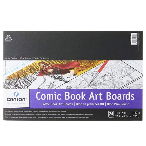comic book art boards pad