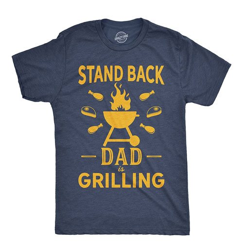 dad is grilling shirt apparel