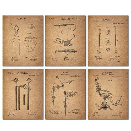 dentist patent wall art prints
