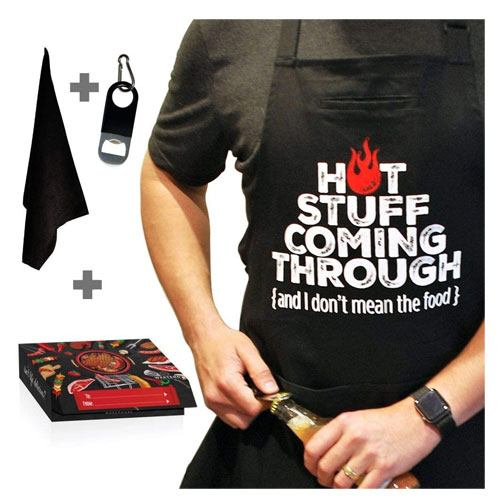 hot stuff cooking apron grilling gift