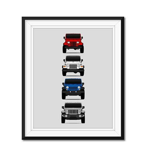 jeep wrangler generations poster
