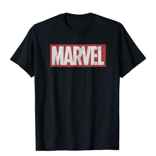 marvel logo graphic tee