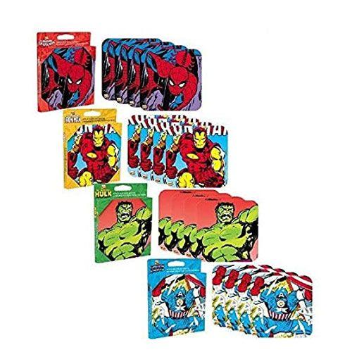 marvel comic coasters set