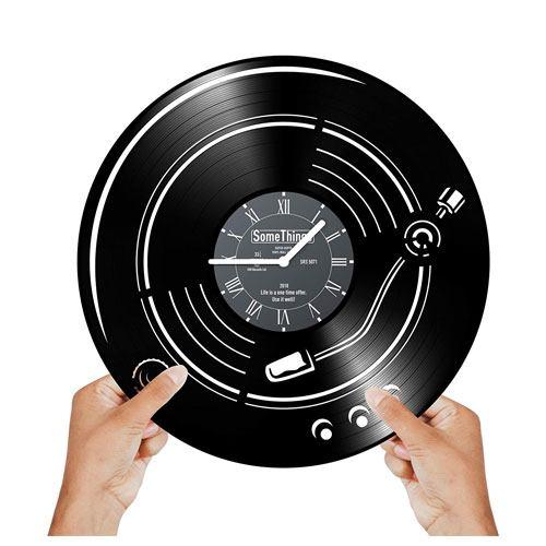 music vinyl clock gift idea