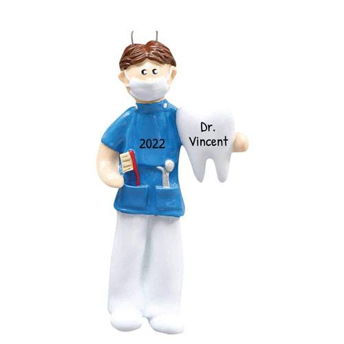 personalized dentists christmas tree ornament