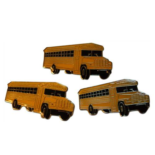 school bus lapel pin set
