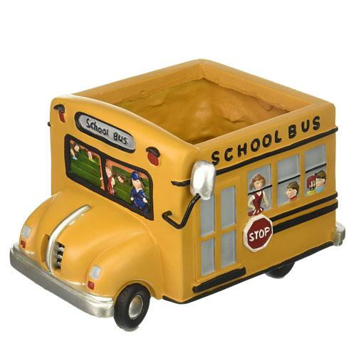 school bus planter pot