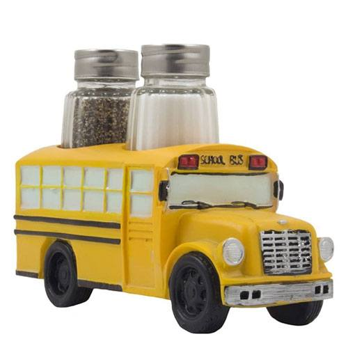 school bus salt & pepper display