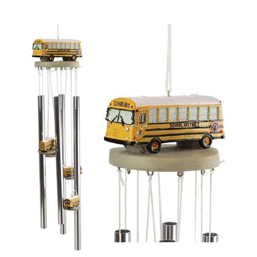 school bus wind chime gift