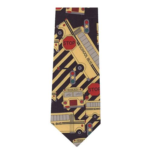 school bus novelty tie
