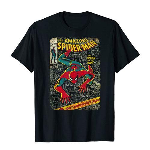 spiderman comic book t-shirt