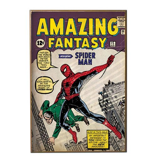 spiderman comic book wall art
