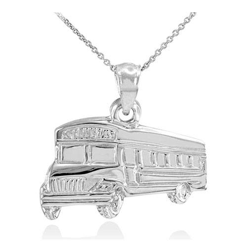 sterling silver bus pendant jewelry