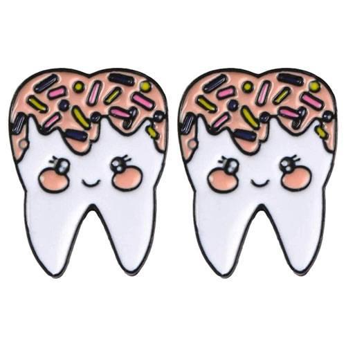 tooth lapel pin set