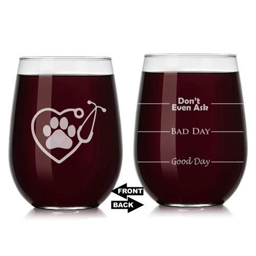 vet tech wine glass