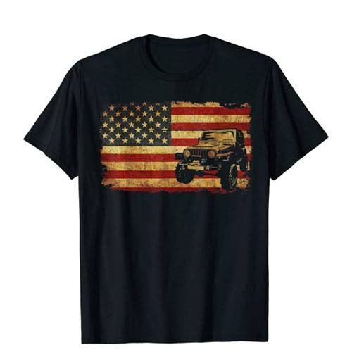 vintage us flag off road t-shirt