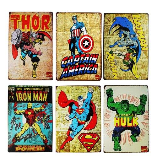 vintage comic book wall art set