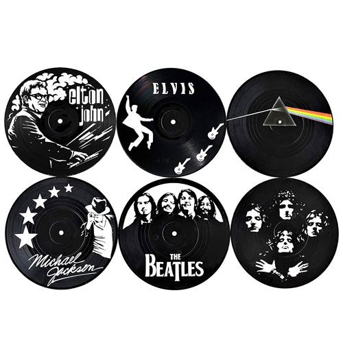 vinyl coasters gift set