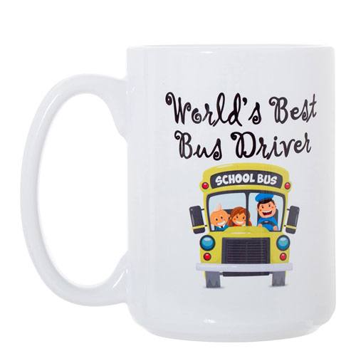 world's best bus driver mug gift idea