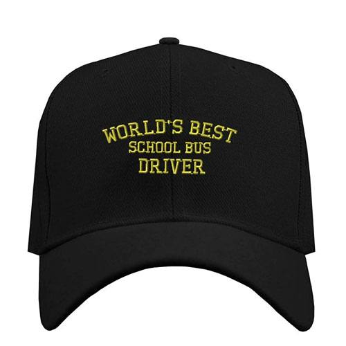 world's best school bus driver cap