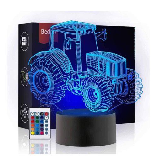 3d tractor night light