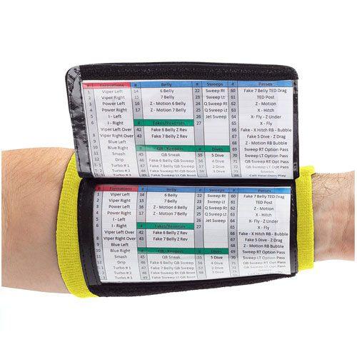 coach wristband playbook