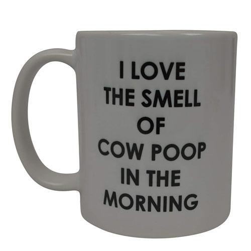 cow poop coffee mug
