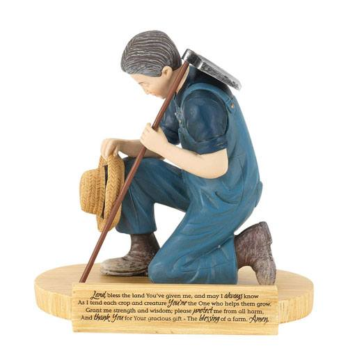 farmers prayer figurine