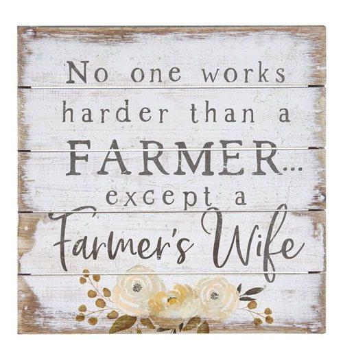 farmer's wife wall art sign