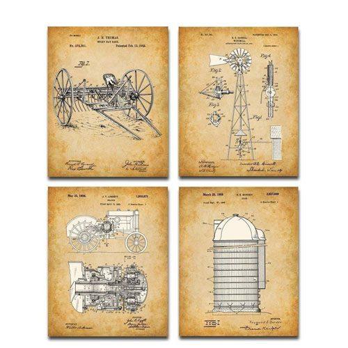 farming patent prints artwork