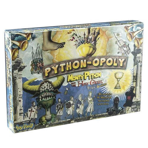 python-opoly board game gift idea