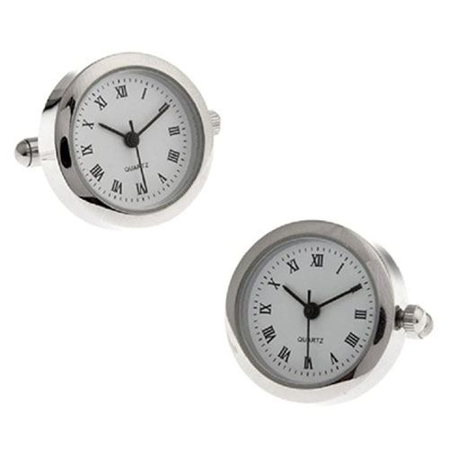 real watch cufflinks set