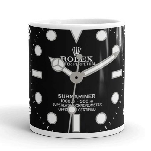 rolex submariner face mug