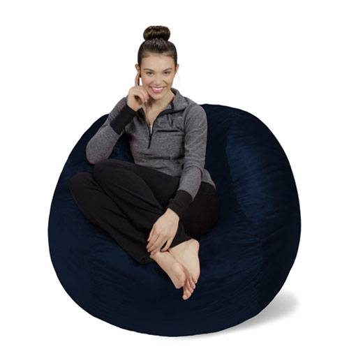 soft bean bag chair present
