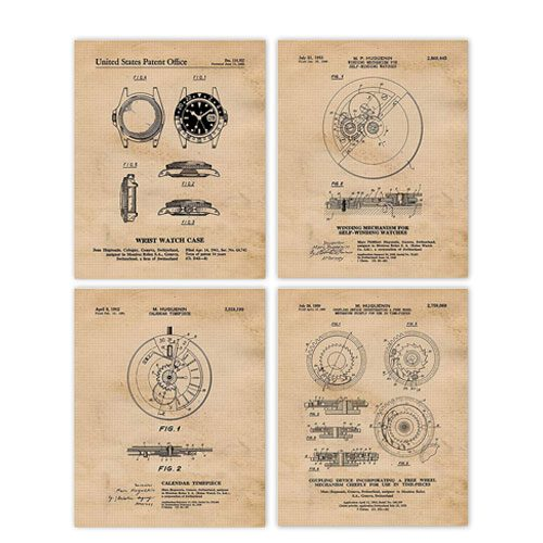 vintage rolex patent prints artwork