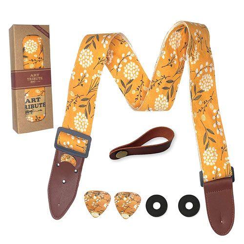 blossom flowers guitar strap