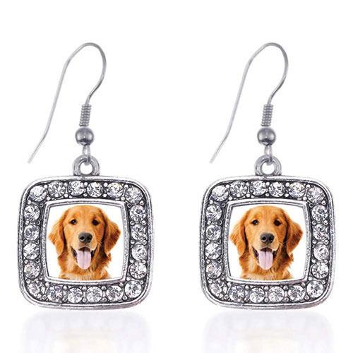 dog dangle earrings