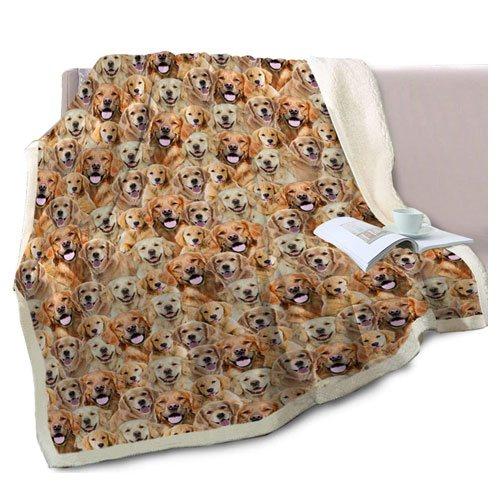 dog sherpa throw blanket