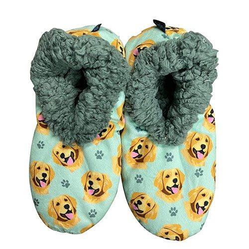 dog pattern slippers