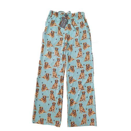 golden retriever pattern pajama bottoms