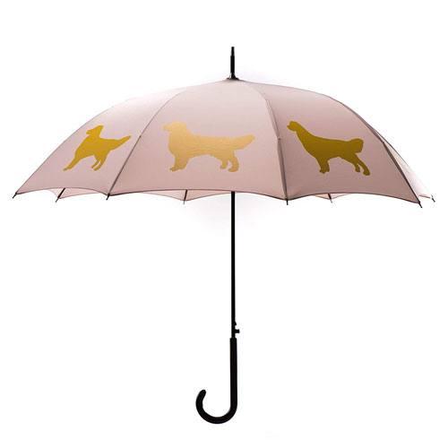 golden umbrella present