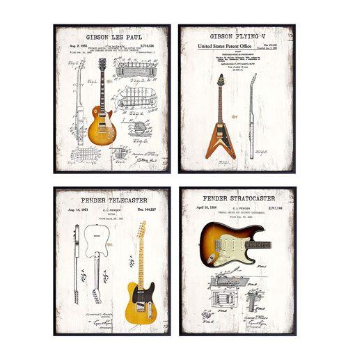 guitar patent wall art prints