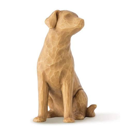 sculptured dog figure