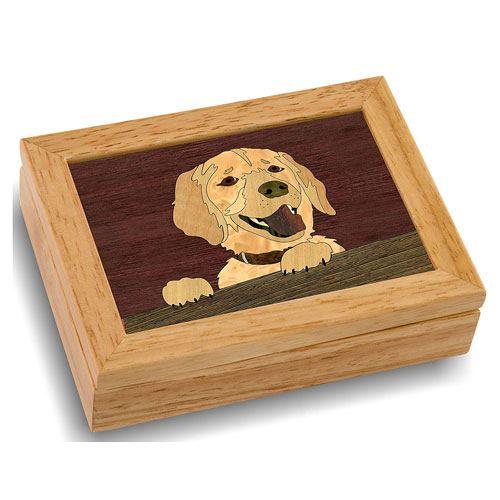 wooden art dog box