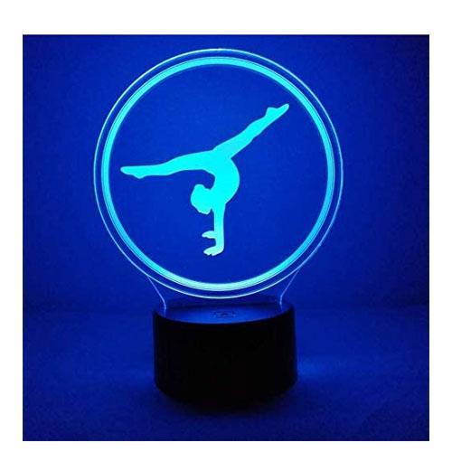 3D gymnastics night light