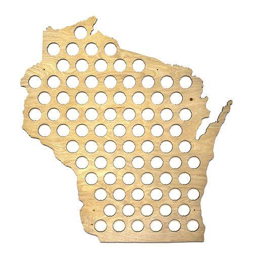 beer cap state map