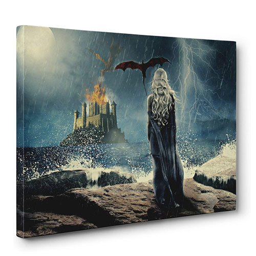 mother of dragons wall art